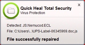 Fig 7. Quick Heal Web Security